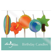 Design Design Surfs Up Birthday Candles, Multicolor