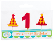 Party Partners Number Candle Set, 1st Birthday