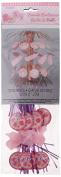 22cm Pink Stitching Baby Shower Cascade Centrepiece