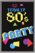 Beistle 58262 8-Pack 80's Invitations, 10cm by 14cm
