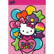 Adorable Hello Kitty Rainbow® Birthday Party Favours Folded Loot Bag (8 Pack), Pink, 23cm x 17cm .