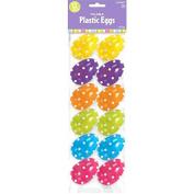 Amscam Polka Dot Plastic Eggs, 5.7cm , Multicolor