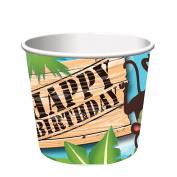 Creative Converting 6 Count Safari Adventure Treat Cups, Multicolor