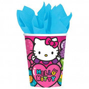 Adorable Hello Kitty Rainbow® Paper Cups Birthday Party Tableware Drinkware (8 Pack), Pink, 270ml.