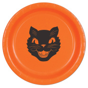 Beistle Halloween Cat Plates, 23cm , Orange