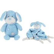 Soft Fabric Chad Valley Baby My First Teddy and Comforter Blue.