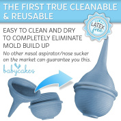 Baby Nasal Aspirator and Booger Sucker for Newborns and Toddlers - Cleanable and Reusable Baby Nasal Aspirator Syringe - Hospital Medical Grade Nose Suction by Babycakes