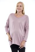 Motherway Women's Tunic Plain Round Collar Maternity Blouse