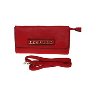 La Modeuse RABAS Case in Imitation Leather with Front poingée with Square Studs