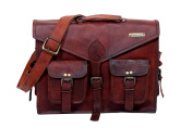 Handmade Original Leather Vintage UrbanHide Briefcase Messenger Laptop Bag #204