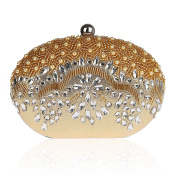 KAXIDY Vintage Seed Beaded Wedding Bag Party Clutch Prom Flower Evening Handbag