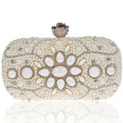 KAXIDY Flower Evening Bag Clutch Bags Sequin Wedding Clutch Bridal Prom Party Purse Handbags