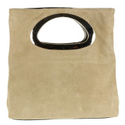 Girly HandBags Genuine Suede Italian Handbag