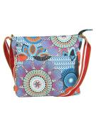 Cross Body Canvas Bag Blue - Women's Crossbody Tote Beach Shopper Cotton Fabric Shoulder Bags