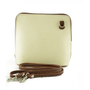 Made In Italy Woman Shoulder Leather Bag Colour Beige Brown Tuscan Leather - Woman Bag
