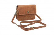 Mala Leather TUDOR Collection Shoulder Bag With Detachable Shoulder Strap 793_88 Tan