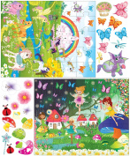 Mona Melisa Designs Peel and Stick Puzzle Wall Decorative Stickers, Fairy/Pony