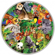 Round Table Puzzle - Wild Animals