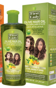 First Lady Herbal OLIVE Hair Oil 300ml - For Dry & Rough Hair - With Lemon, Almond & Jojoba - For All Hair Types