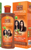 First Lady Herbal ARGAN Hair Oil 300ml - For Exotic Shine & Softness - With Olive & Castor - For All Hair Types