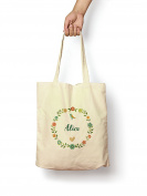 Floral Alice - Canvas Tote Bag