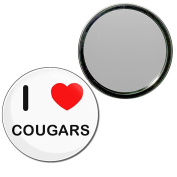 I Love Cougars - 55mm Round Compact Mirror