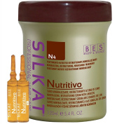 N4 Mineralizing, Restructuring, Nourishing Treatment Serum with Linseeds for Dry, Bleached and Damaged Hair 120 ml Nutritional silkat® Nutritional Hair Restorative Multi Intensive Serum mineralizzante, to Linseed for Dry, Brittle, Dull Bleached and Tre ..