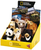 National Geographic Baby Asia Animal Stuffed Toy Display