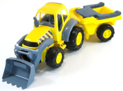 Miniland Super Tractor Toy with Trailer