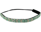 BONAMART ® Women Stylish Boho Bead Elastic Wide Headband Hair Band Chain