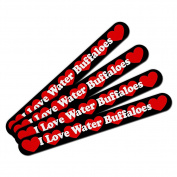 Double-Sided Nail File Emery Board Set 4 Pack I Love Heart Animals T-Z - Water Buffaloes