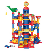 Wader Park Tower Playset With Cars - 7 Floors