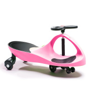 Active Play Swing Car Ride-On, Pink