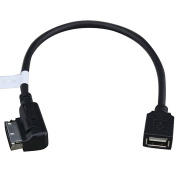 Shine@ Media Interface USB Cable Adapter Flash Drive compatible with Mercedes-Benz C CLS SLK E SL GLK Class plus HQRP UV Metre