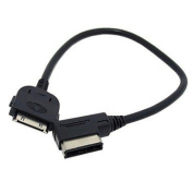 Shine@ AMI MDI Media In Dock 30pin Aux Adapter Cable For Car VW AUDI 2014 A4 A6 Q5 Q7 and iPhone/iPad