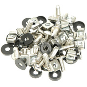 48cm M6 Equipment Rack Spares-Clip Nuts Bolt-Captive Cage Washer Screw Repair Kit