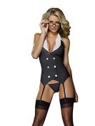 Dreamgirl, Working Late Women's Underwear Set Black One Size