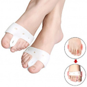 Hallux valgus Bunion toe separator Orthopedic Support foot spreader for pain relief - splint to help prevent discomfort caused by bunions corns etc - 1 Single White