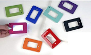 Colourful Pocket reading card led lighted magnifying Credit Card Magnifier