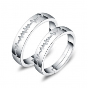 ZPL ZPLSimple creative s925 sterling silver couples ring