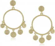 Karen Kane Sandy Beach Chandelier Disc Drop Earrings
