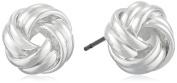 "Napier ""Classics"" Silver-Tone Knot Stud Earrings"
