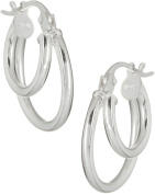 Signature 15mm Double Hoop Earrings One Size Silver tone