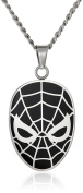 Marvel Comics Unisex Spider-Man Stainless Steel Chain Pendant Necklace, 60cm