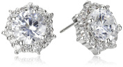 CZ by Kenneth Jay Lane Round Cubic Zirconia Halo Stud Earrings