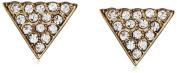 David Aubrey Small Crystal Triangle Earrings