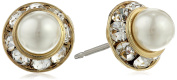 """Signature 1928 """"Collection"""" Gold-Tone Stud Earrings"""