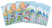 The Gift Wrap Company Square Gift Bags (Set of 6), What a Hoot, Large, Multicolor