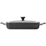 Starfrit 23cm x 33cm /5l Rectangular Dish with Lid, Black