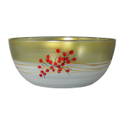Golden Hill Studio 28cm Serving Salad Bowl Hand Painted in the USA by American Artists-Berries 'n Branches Collection